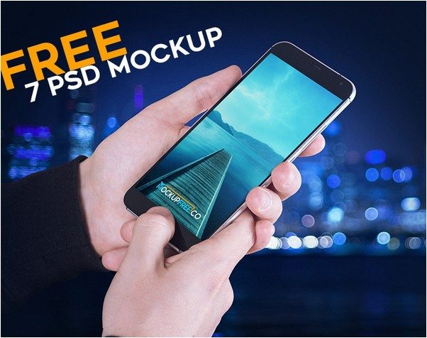 Android Phone – 7 Free PSD Mockups