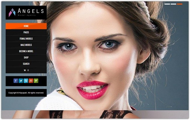 Angel - Fashion Model Agency WordPress CMS Theme