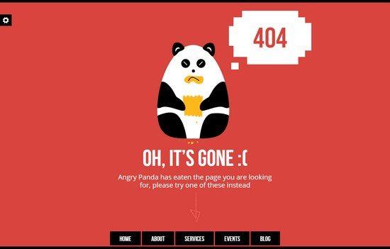 AngryPanda – Responsive 404 & Maintenance Template