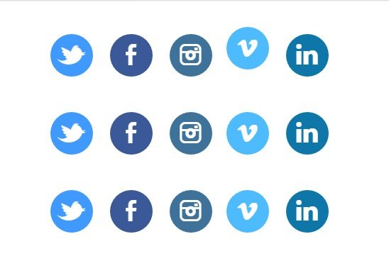 Animated CSS3 social buttons