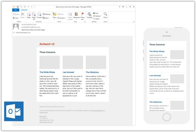 Antwort Responsive Layouts for Email