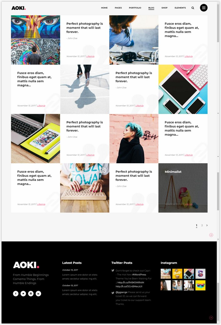 Aoki - A Bold Multipurpose Creative Theme