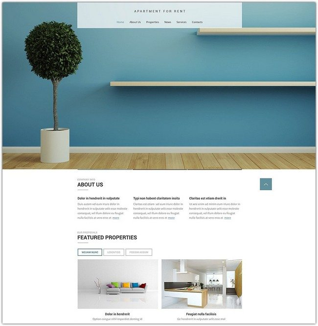 Apartment for rent Real Estate Agency Responsive Website Template