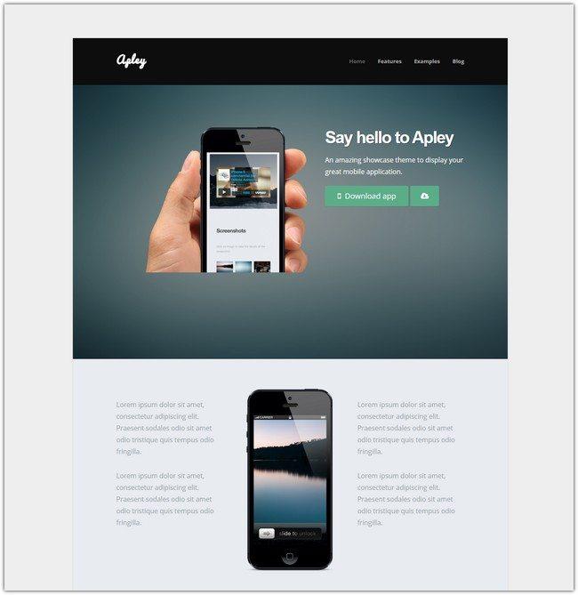 Apley - A Mobile Application Landing Page