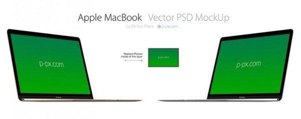 Apple MacBook Vector PSD Mockup