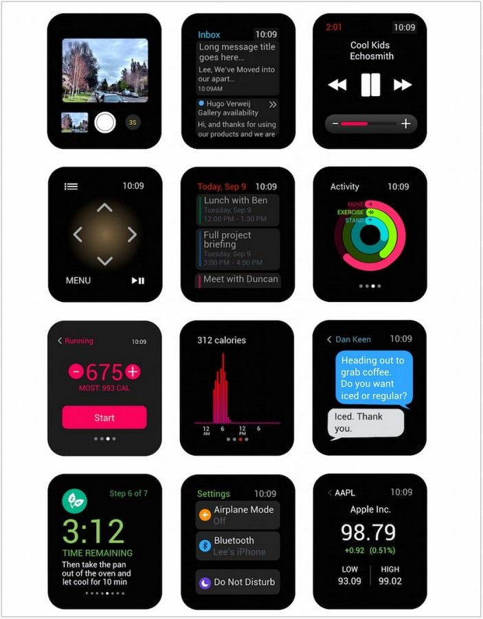 Apple Watch Vector UI Kit