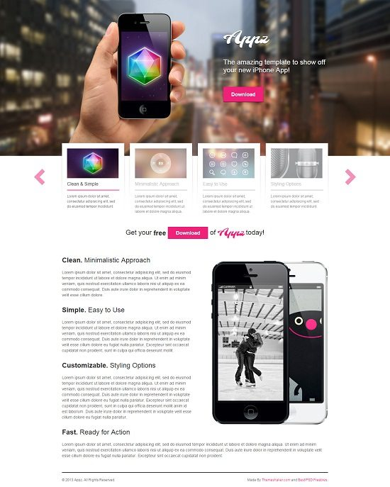 Appzfree Free iPhone App WordPress Theme
