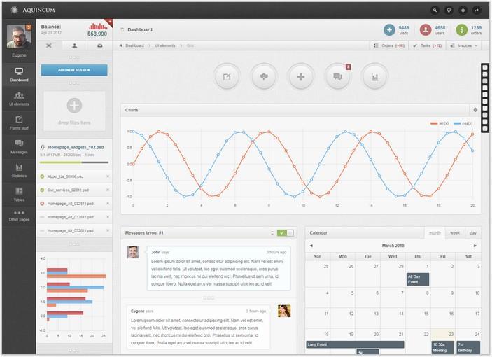 Aquincum – Premium Responsive Admin Template