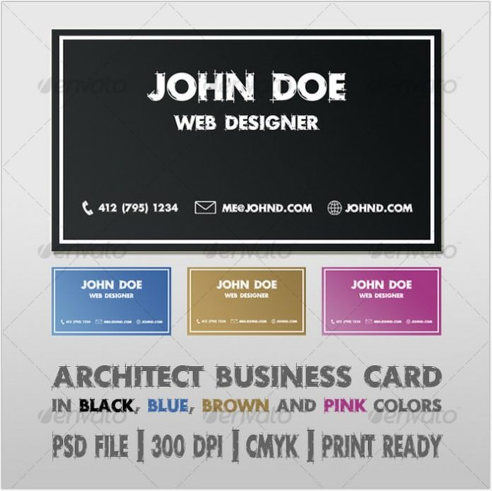 Architect Business Card # 5