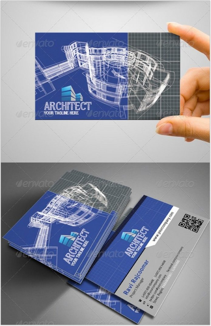Architect Business Card # 6