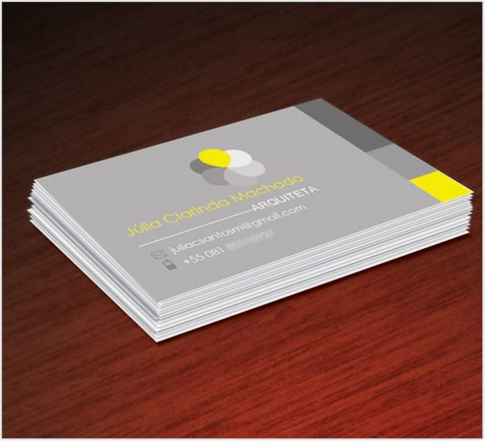 Architect Business Card - Front & Back