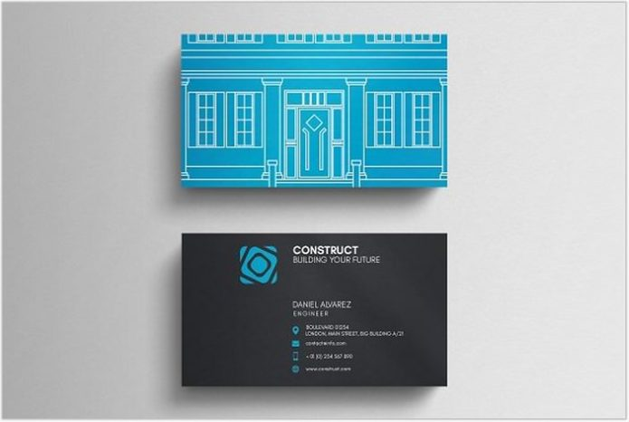 Architect Business Card Template # 2