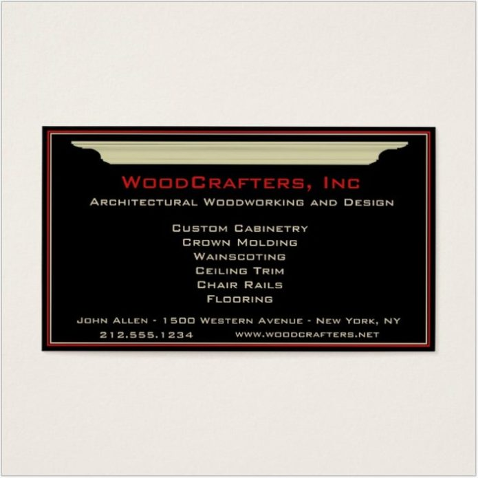 Architectural and Custom Carpentry Business Card