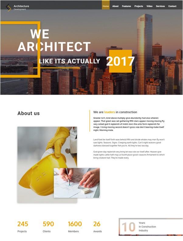 Architecture Development - Modern Constuction Website Template