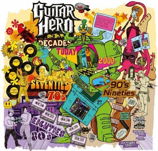 Artistic Guitar Hero Doodle Art Template