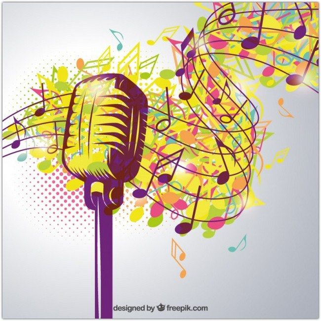 Artistic music poster Free Vector