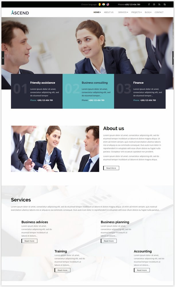 Ascend - Consulting & Finance WordPress Theme