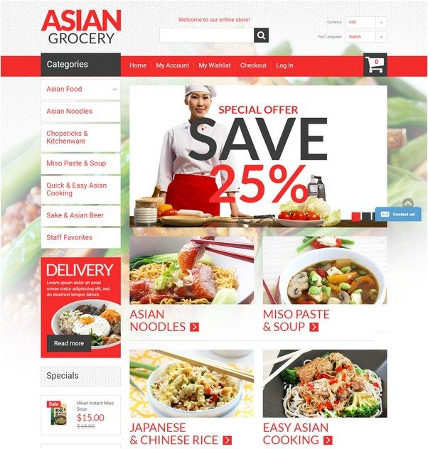 Asian Specialties Magento Theme