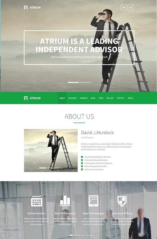 Atrium - Responsive One Page WordPress Theme