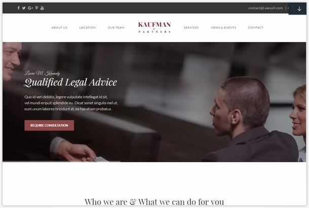 Attorney WordPress theme KAUFMAN