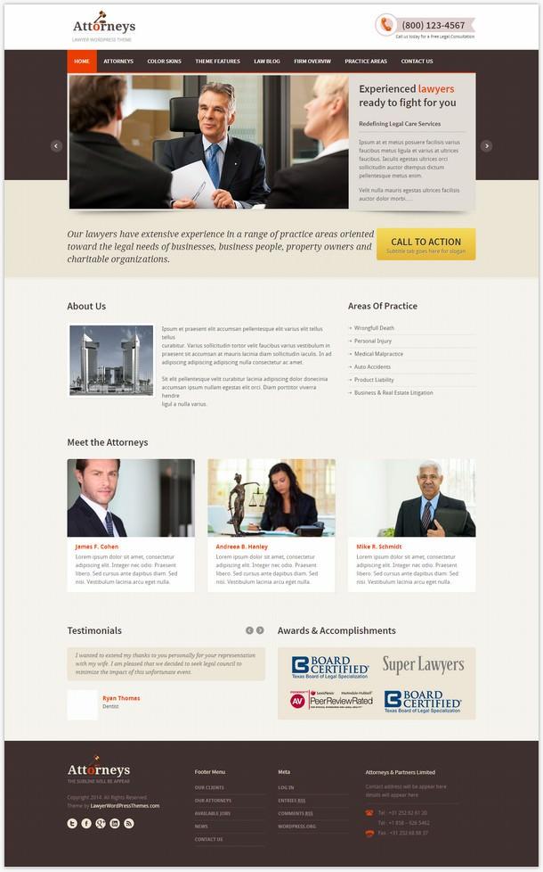 Attorneys - Responsive Law Theme