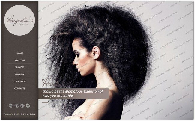 Augustin'sHair Salon Website Template