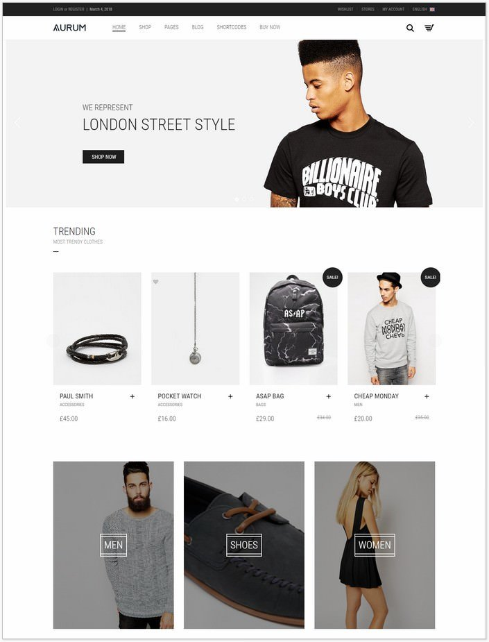 Aurum - Fashion Shopping Theme