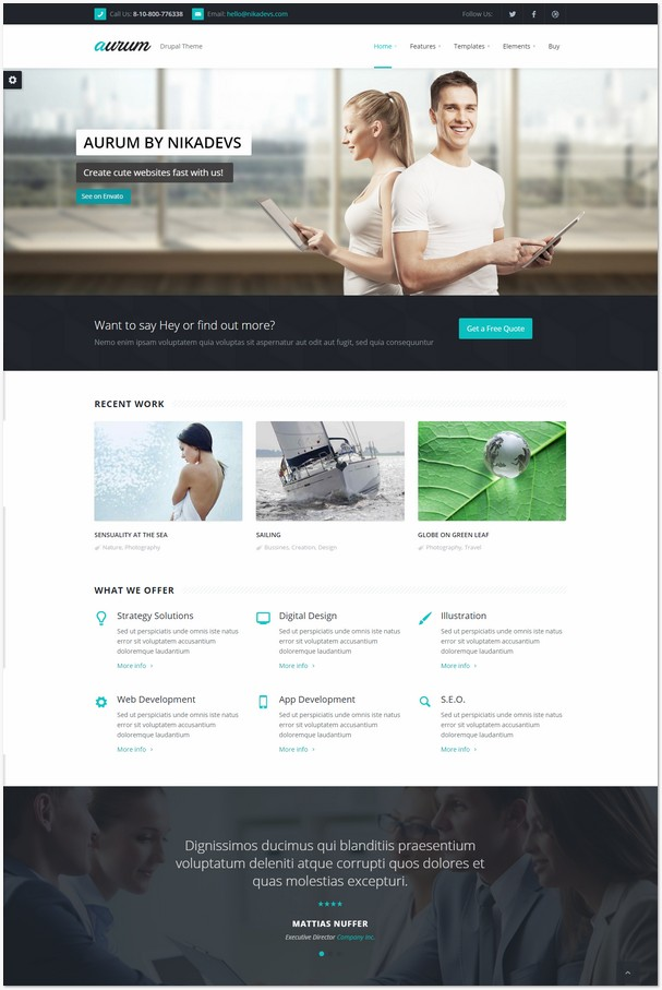 Aurum - Responsive Multipurpose Drupal Theme