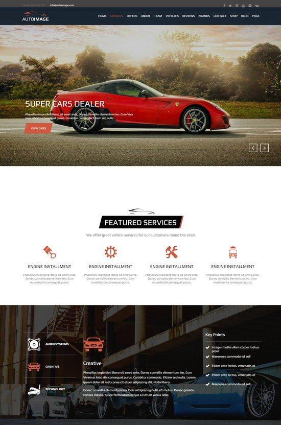 Auto Image - HTML for Car Dealer Website