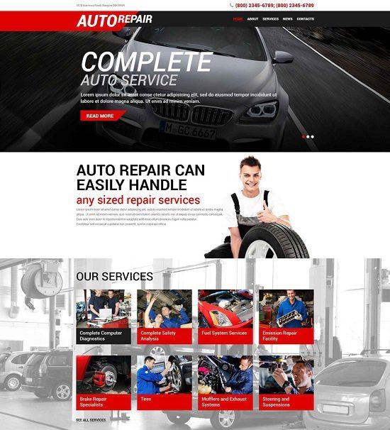 Auto Repair Service WordPress Theme