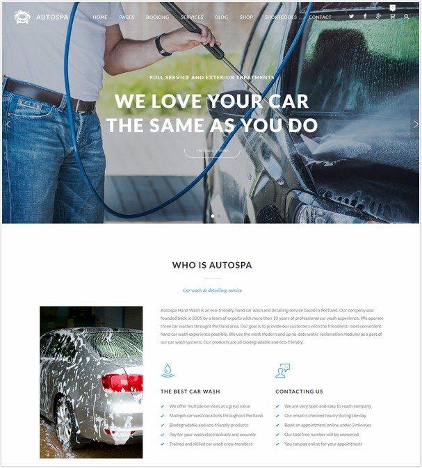 Auto Spa - Car Wash Auto Detail WordPress Theme