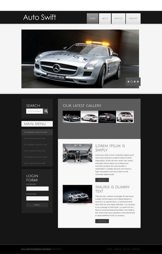 Auto Swift automobile Mobile Website Template