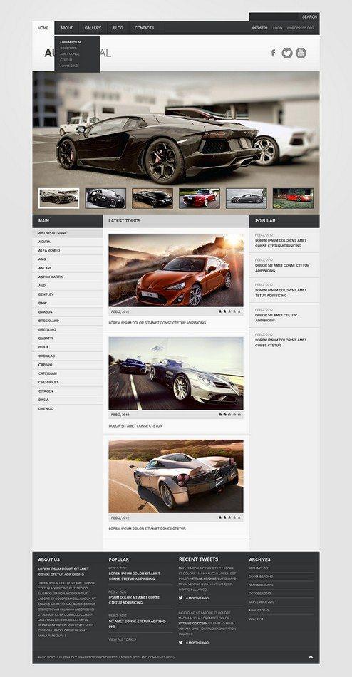 Auto portal WordPress Theme
