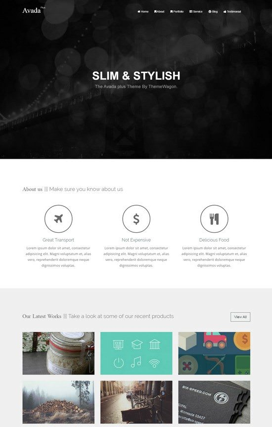 Avada-Plus - A Free Responsive HTML5 Agency Template
