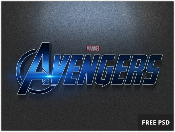 Avengers PSD Text Style
