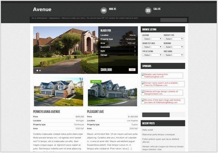 Avenue Wp Theme Free