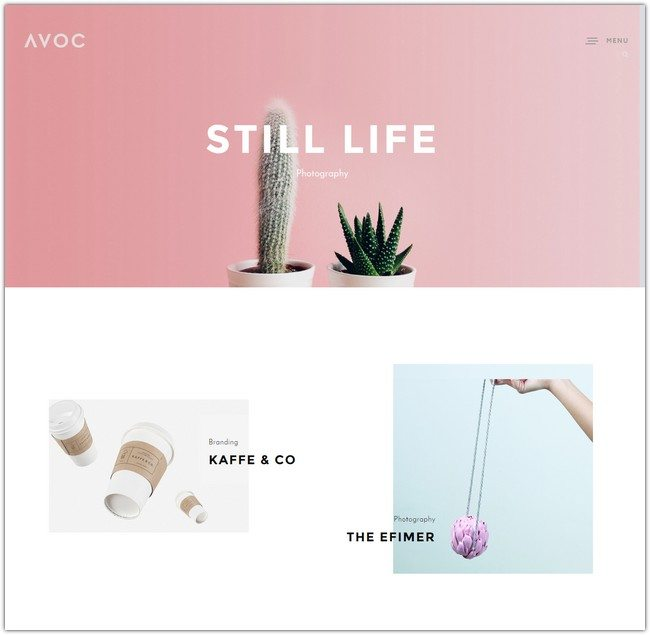 Avoc - Minimal Portfolio Agency WordPress Theme
