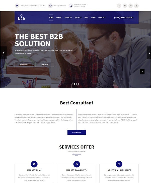B2B - Business, Consulting, Finance & Corporate Template
