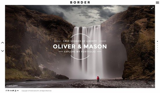BORDER – A Delightful Photography WordPress Theme