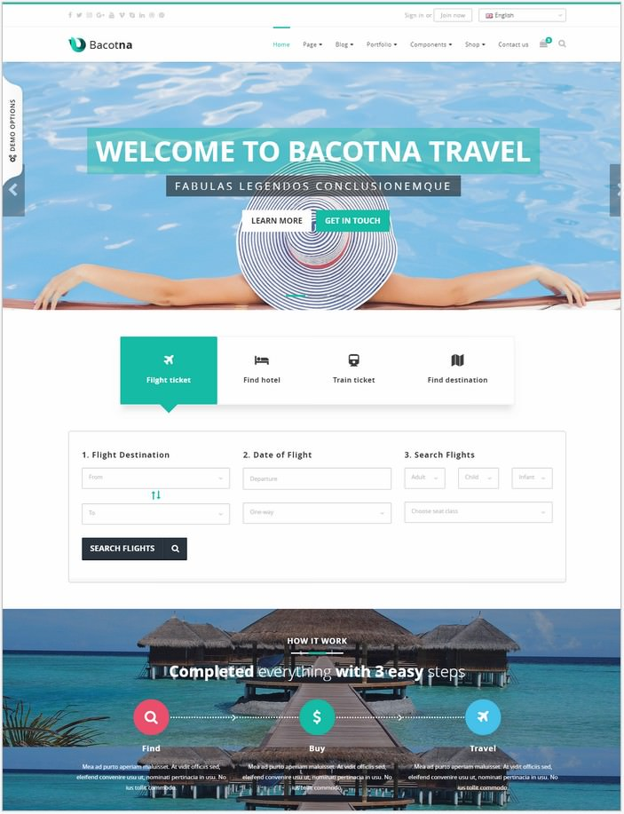 Bacotna Travel Agency Template