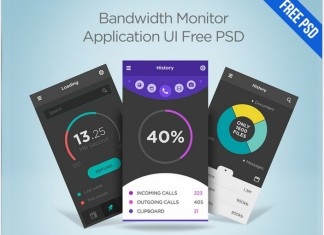 Bandwidth Monitor Application UI