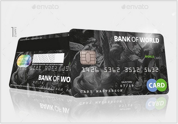 Bank Card Credit Card CashCard Mock-Up
