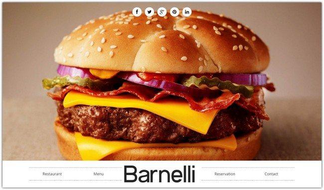 Barnelli - Restaurant HTML5 Responsive Template