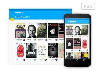 Barter.li Android L Web and Mobile Interface