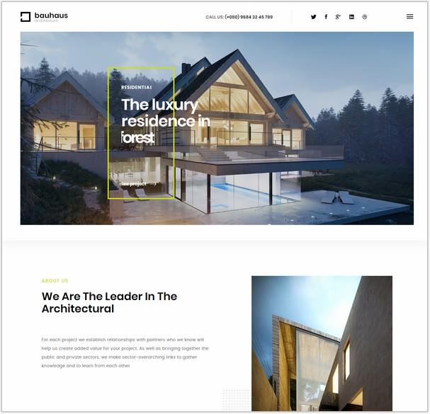 Bauhaus - Architecture & Interior Template