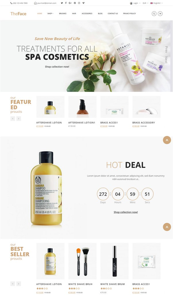 Beauty & Cosmetics Store Theme Theface-1348564