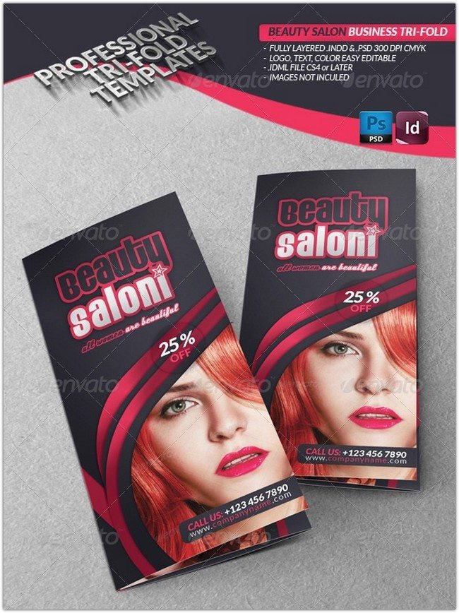Beauty Salon Business Tri-Fold