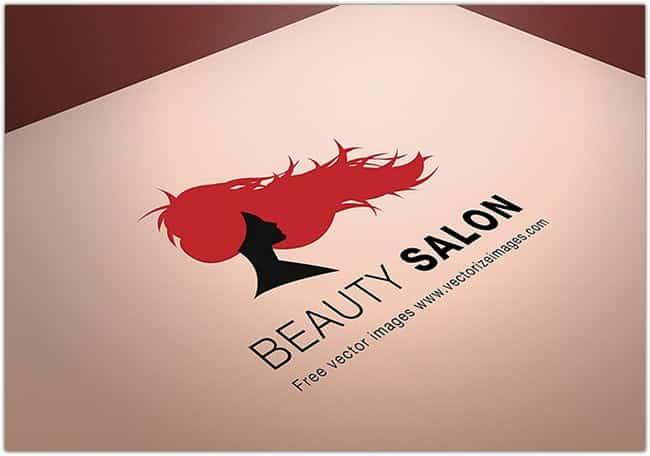 Beauty Salon Logo MockUp Template