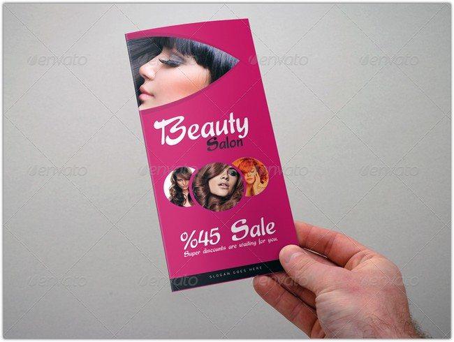 Beauty Salon - Tri-Fold Brochure