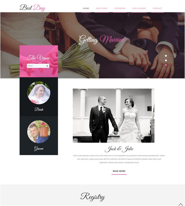 Best Day a Wedding Planner Flat Bootstrap Responsive Web Template